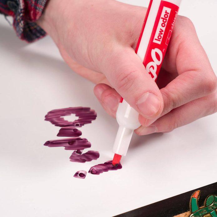 dry erase board permanent marker handy hint