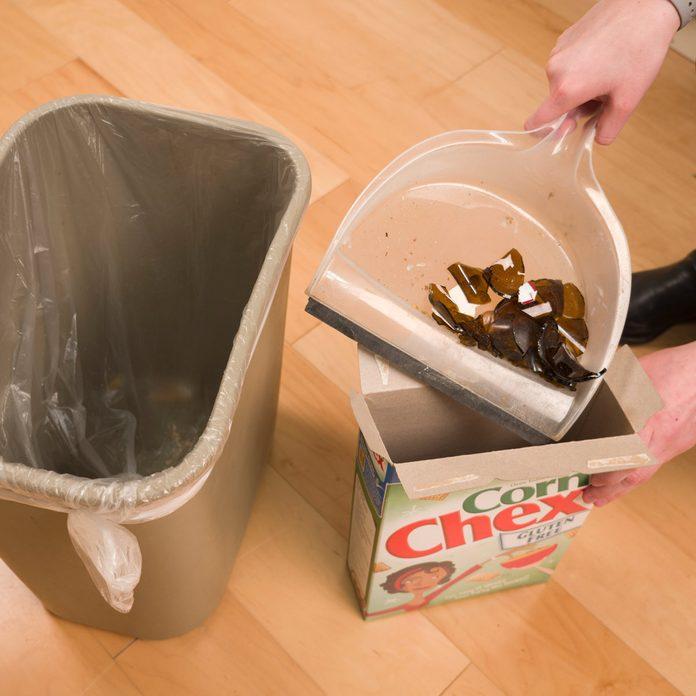 HH broken glass cereal box
