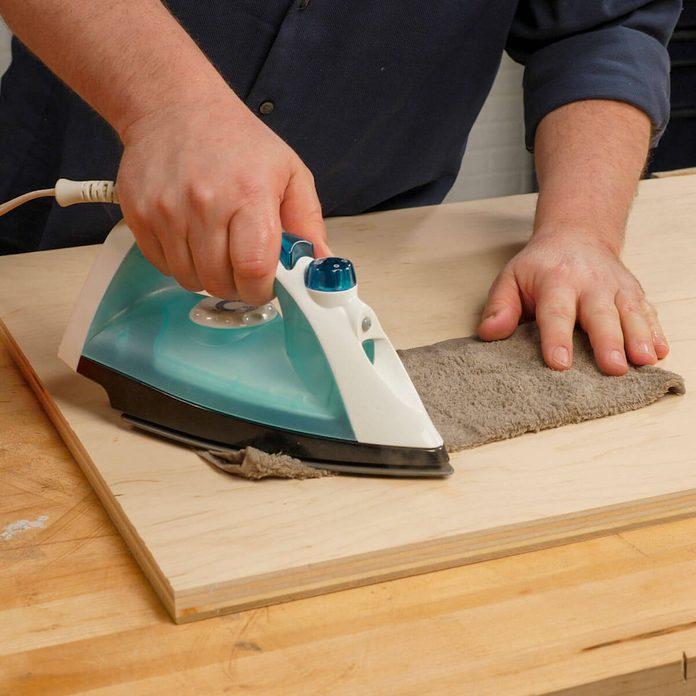 ROUND_8 HH Wood dent iron steam wet cloth