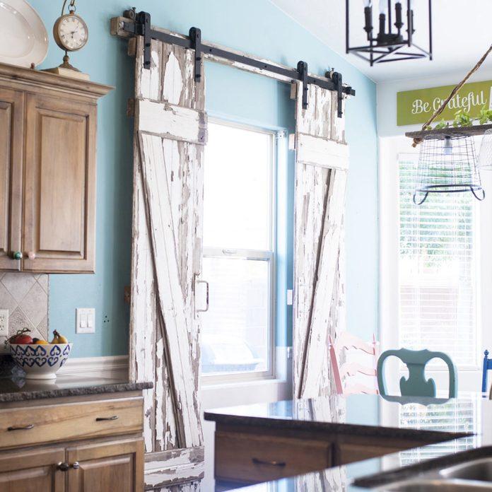 barn door window treatments