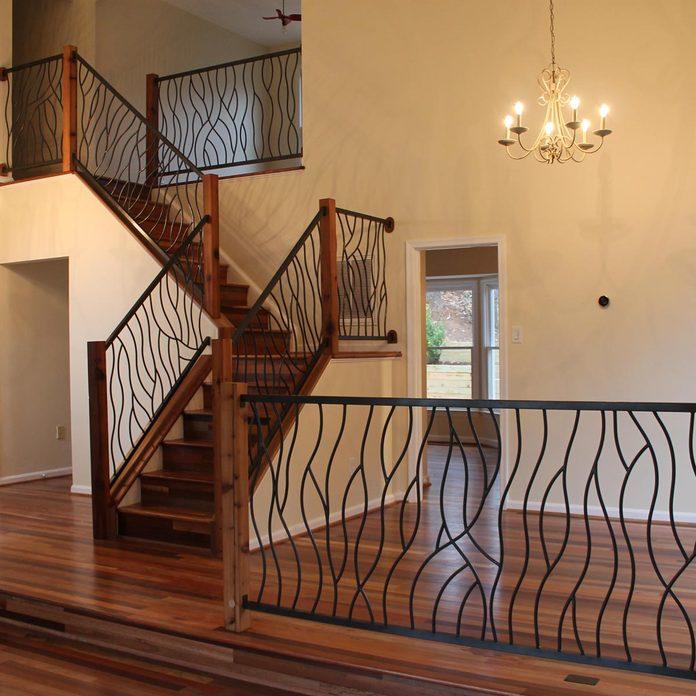 metal stairs railing
