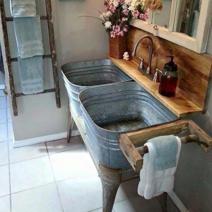vintage metal sinks