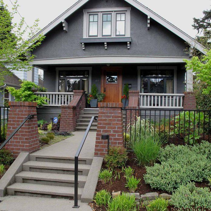 gray trim craftsman home
