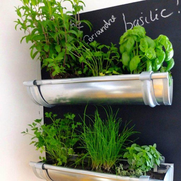 gutter-herb-garden