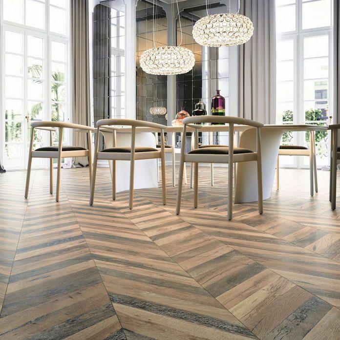 herring bone pattern wood tile