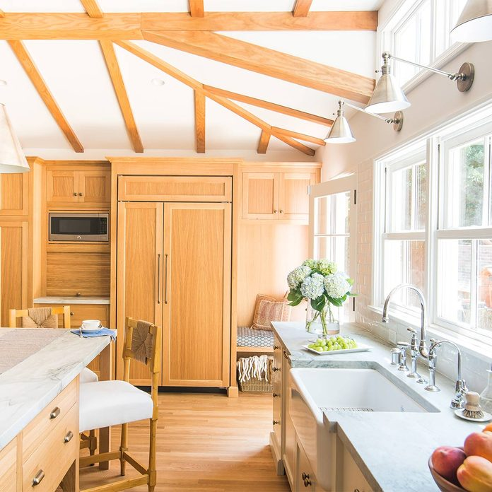vaulted ceiling kitchen remodel