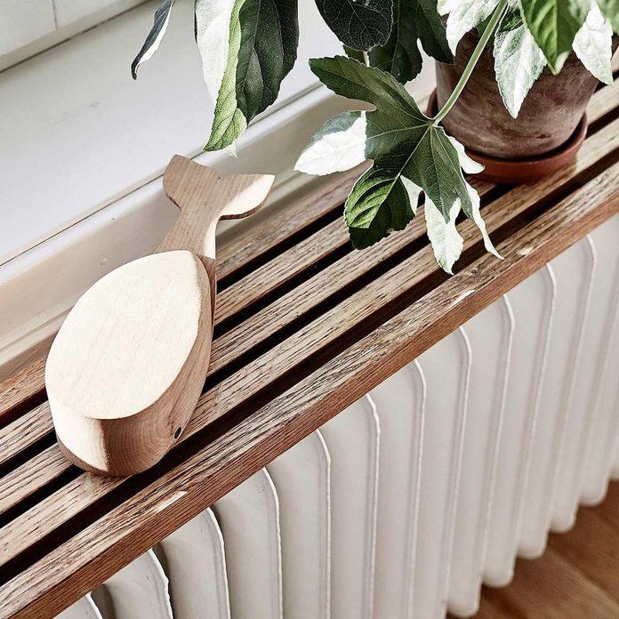radiator cover wood shelf