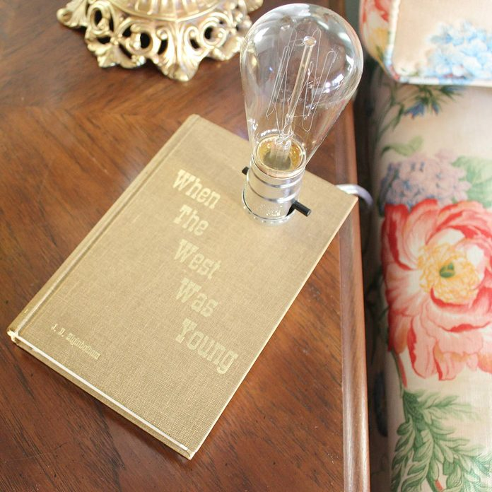 lamp old book