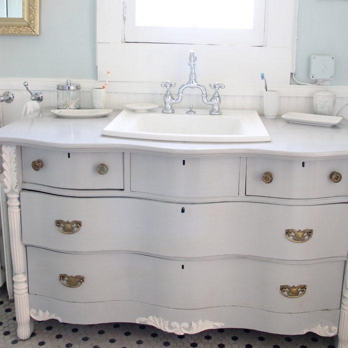 bathroom vanity vintage dresser