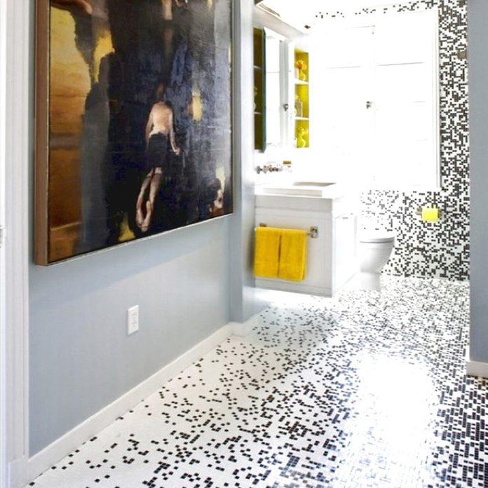 pixilated tile