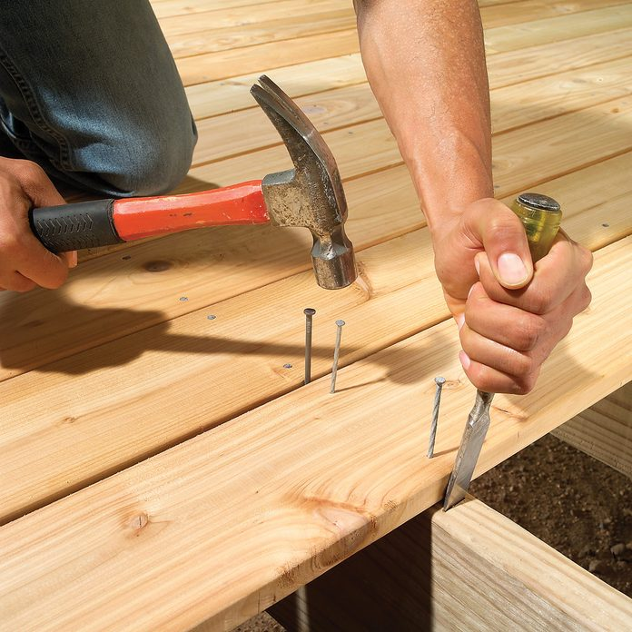 Plan for a deck board