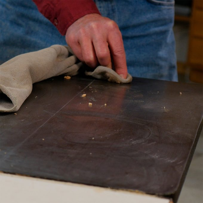 wax table saw surface