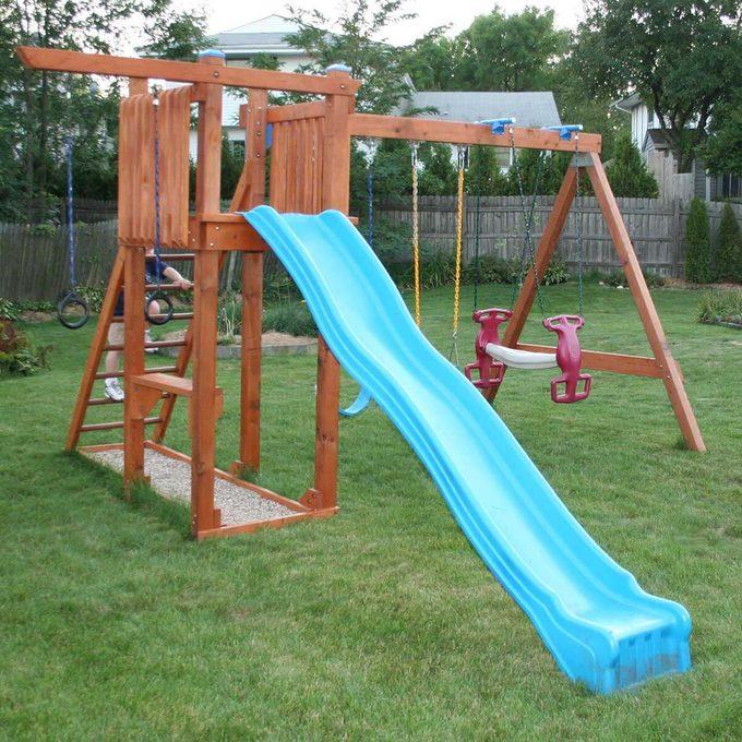 DIY rebuilt swingset