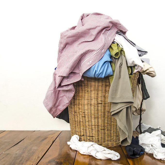 dirty clothes hamper laundry