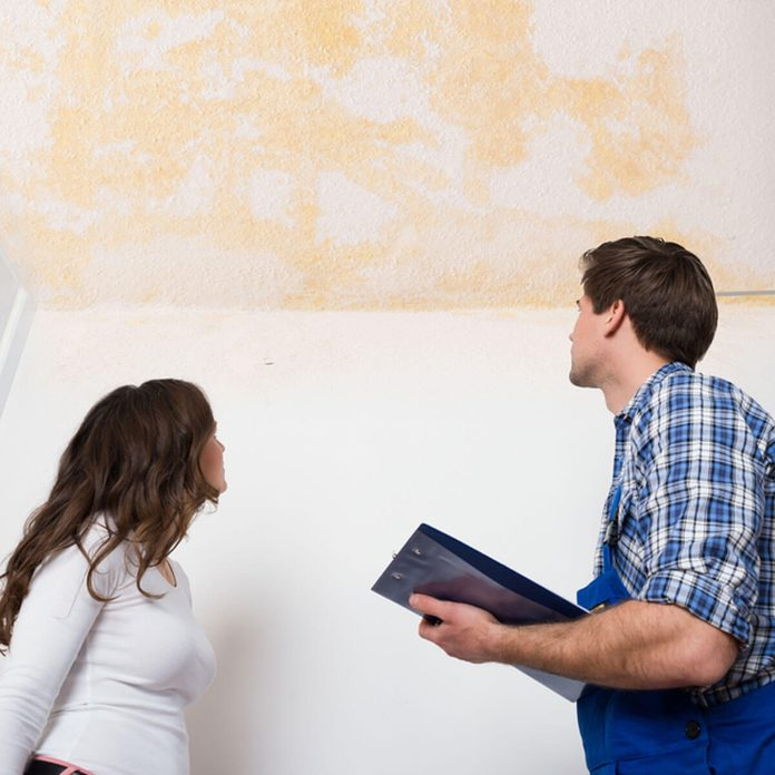 water damaged ceiling inspector renting
