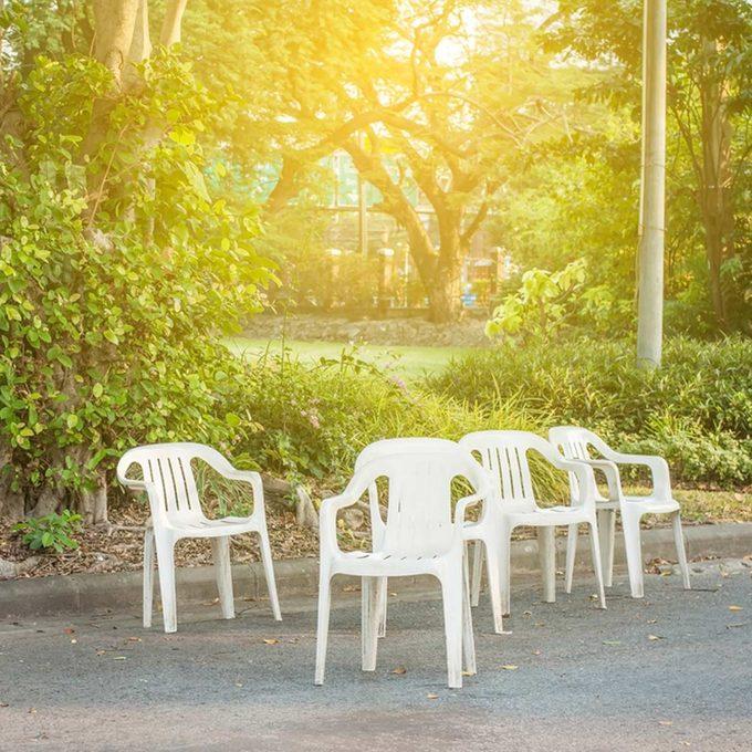 Clean Outdoor Plastic Furniture