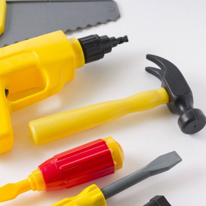 plastic toy tools