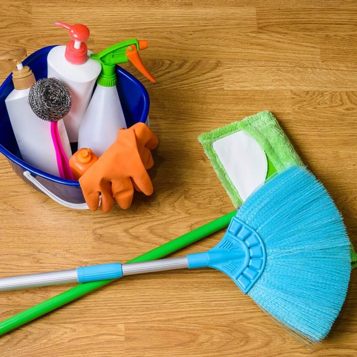shutterstock_696897289 broom cleaning products
