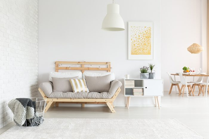 Clean room with minimal furniture