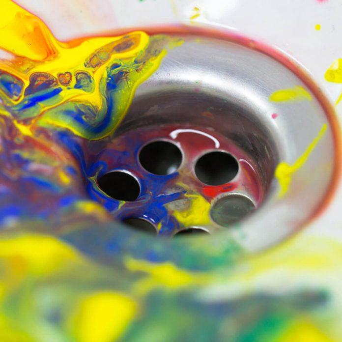 Don't Pour paint down the drain