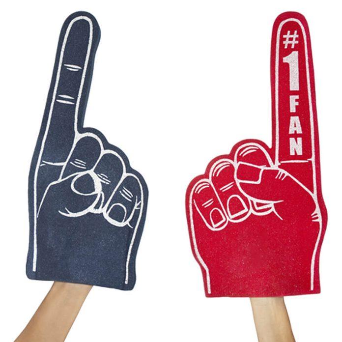 number # 1 #1 fan foam finger brand fans