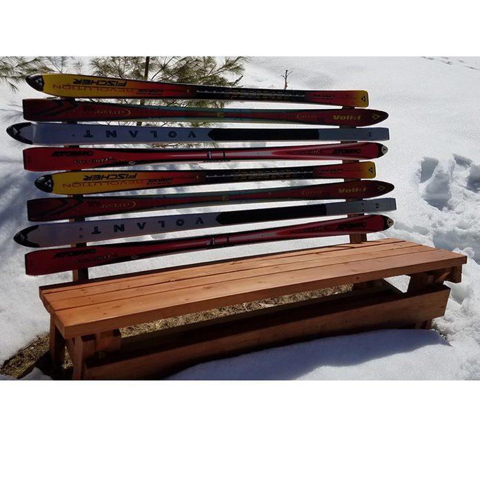 DIY ski-back bench