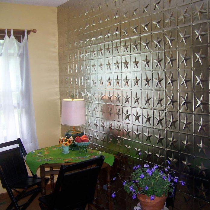 texture star wall tile tin