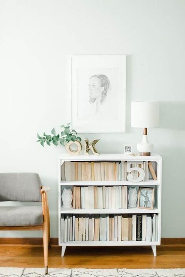 little white bookcase