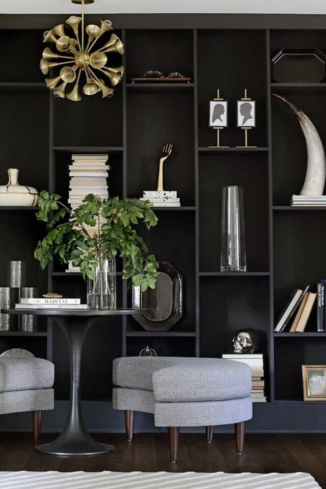 tall black bookcase