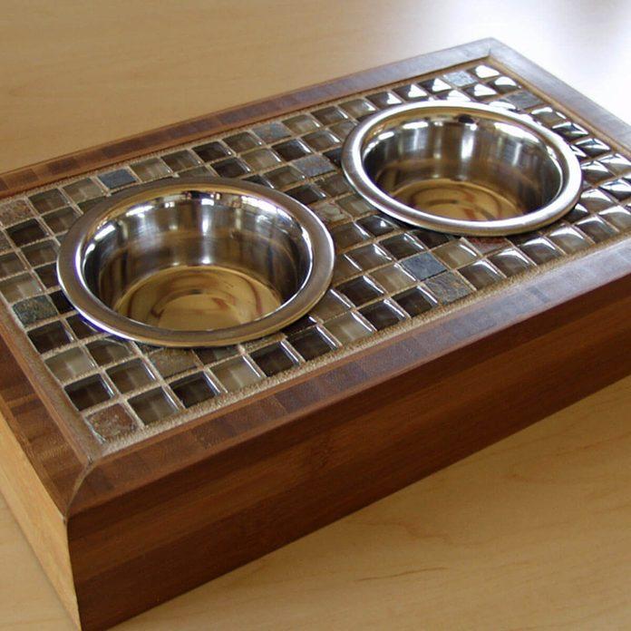 Mosaic Bowl Holder pet food bowl
