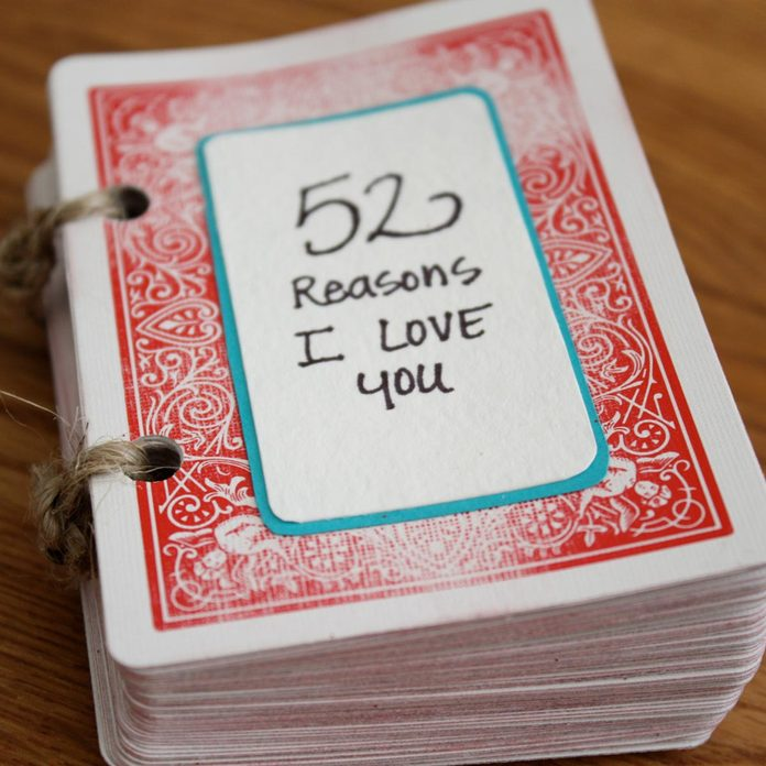 52 reasons I love you valentine gift deck of cards