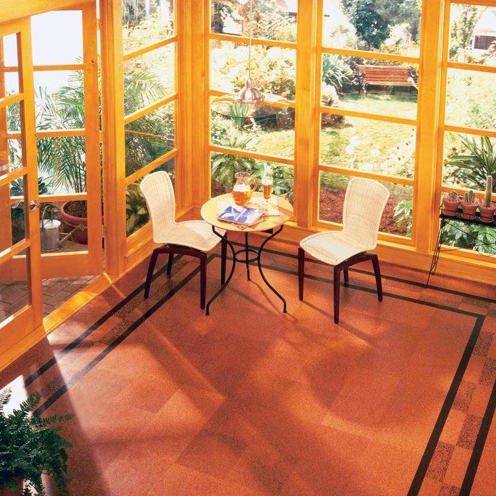 cork floors sunroom