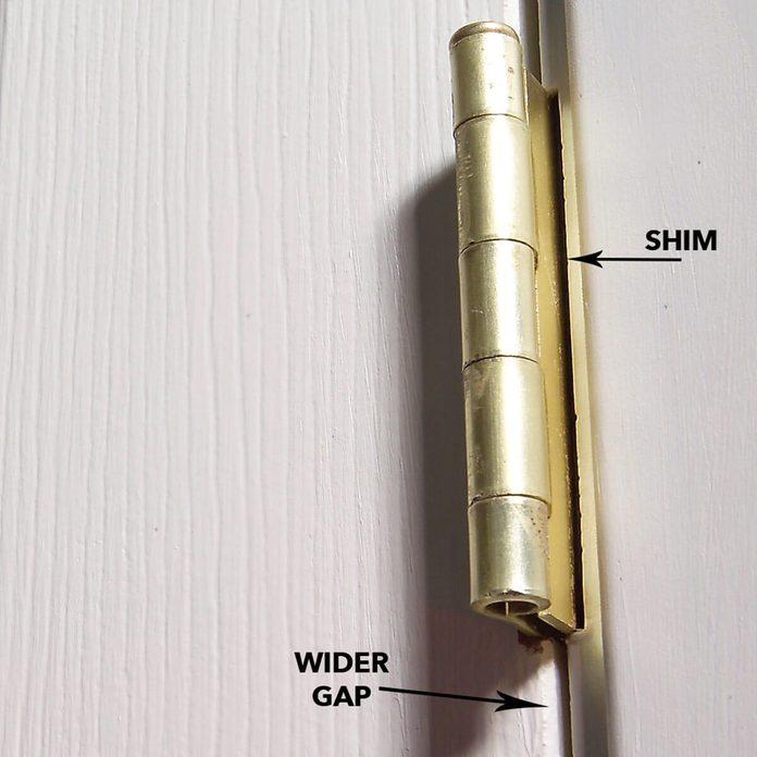 wider door gap with shim