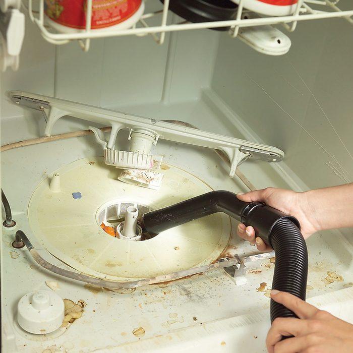 clean dishwasher filter