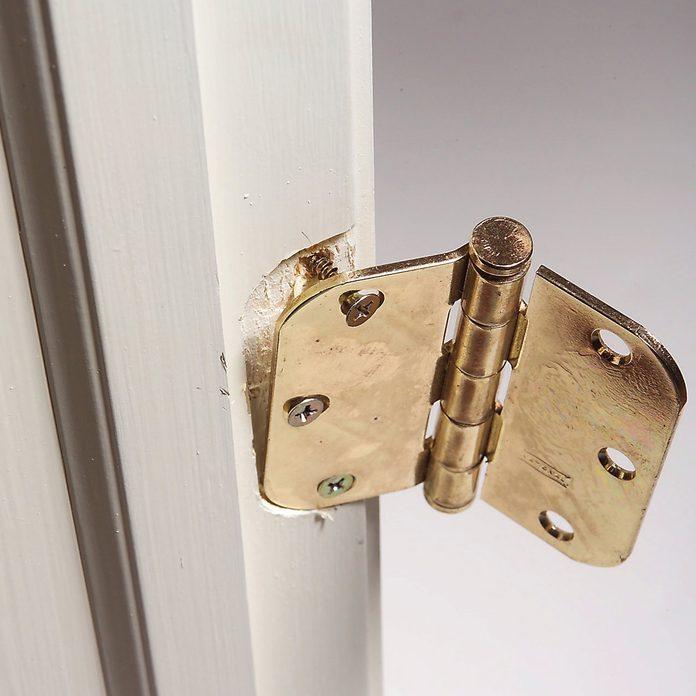 fix loose door hinge