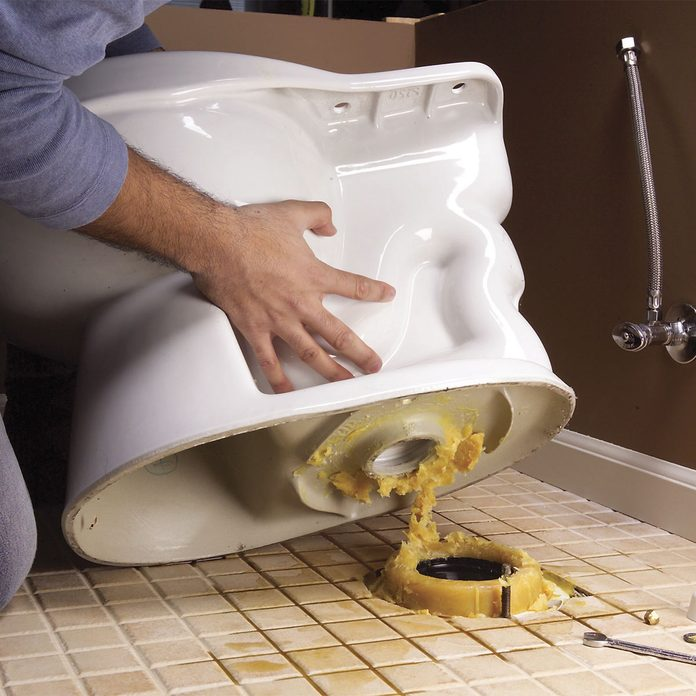 replace a toilet