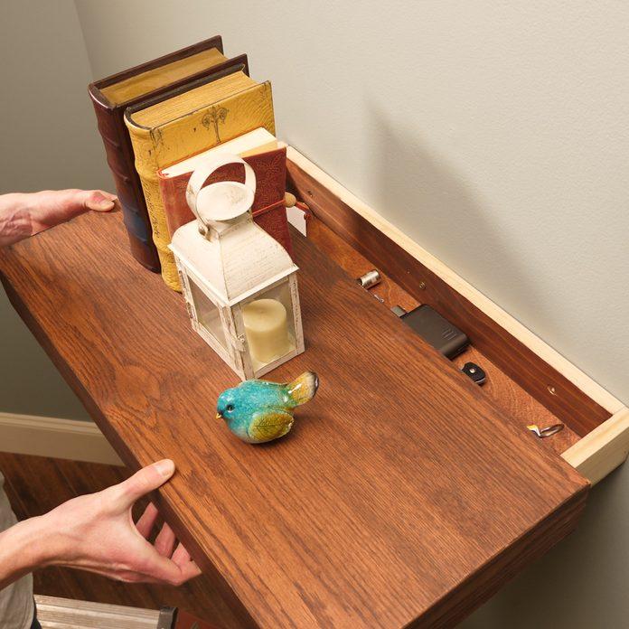 Floating Shelf Secret Drawer Lead