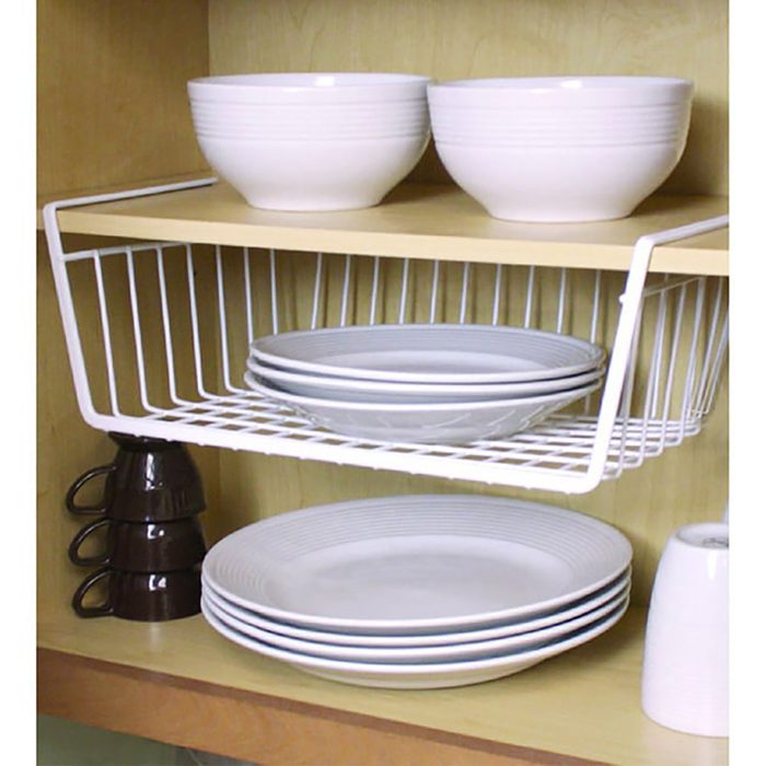 Stop piling dishes with this storage basket