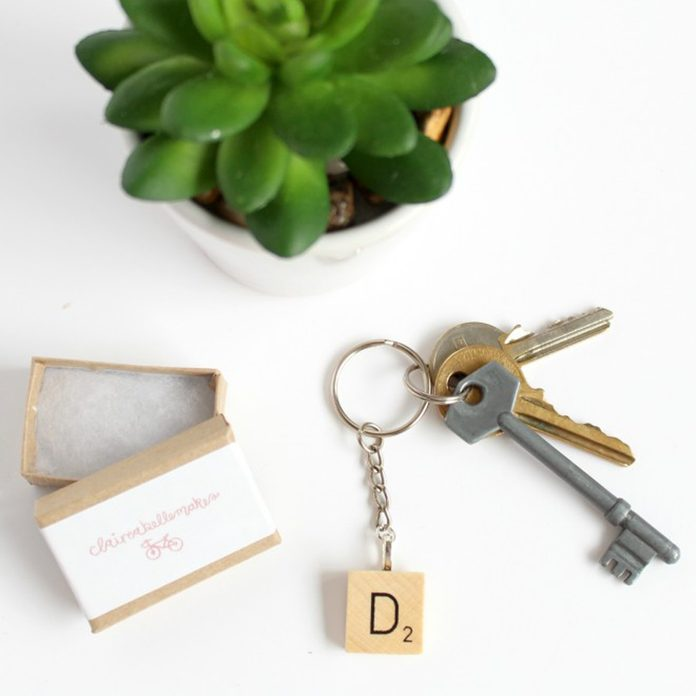 Scrabble Key Ring