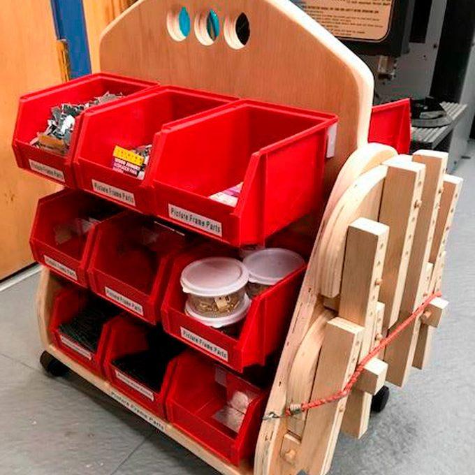 Portable storage bins