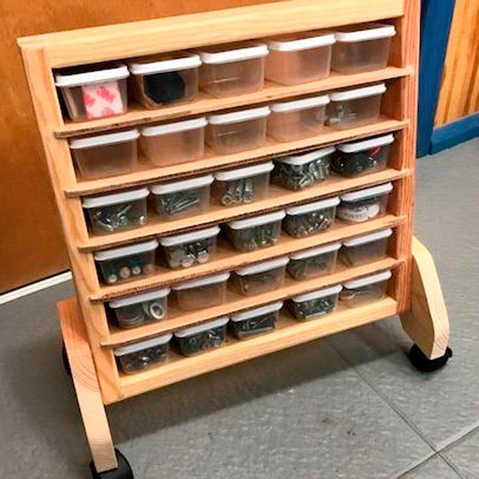 small portable storage bins