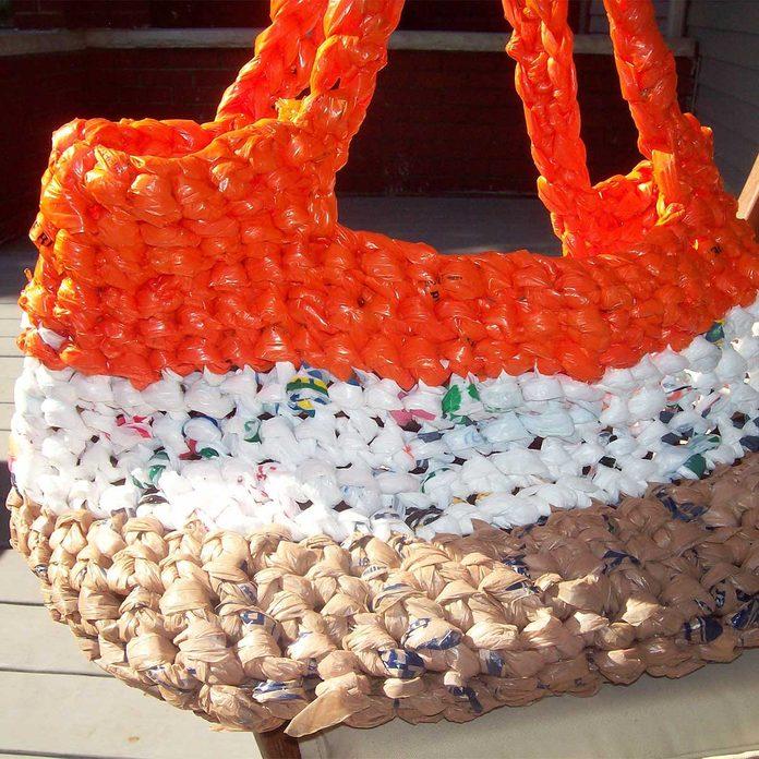 plastic bag tote