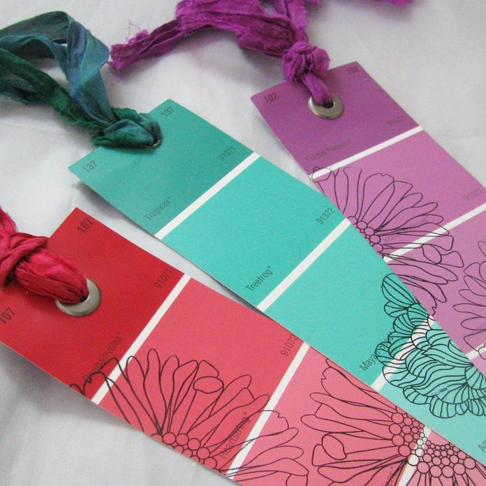 Paint Sample Bookmarks