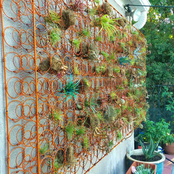 Mattress Spring Flower Wall