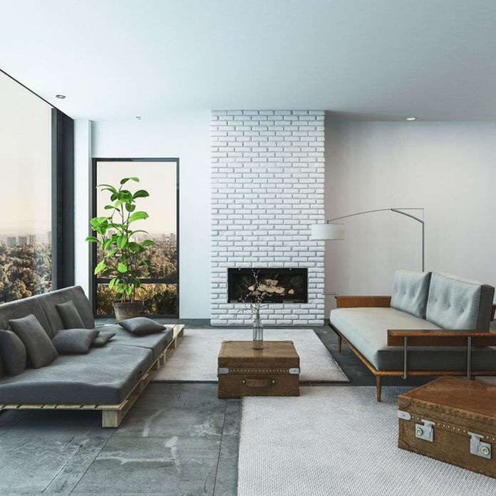 Low-Profile and Floor-Hugging Furniture contemporary living room fireplace