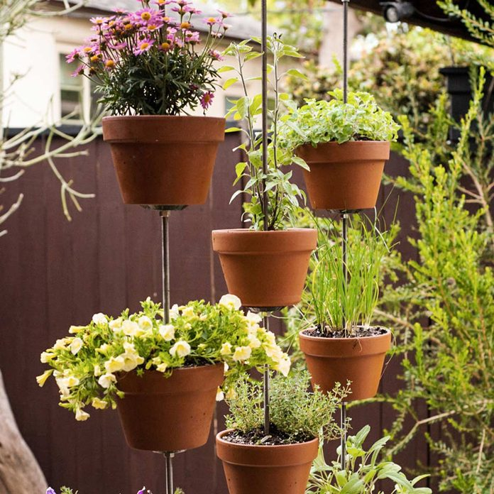 hanging tower flower pots
