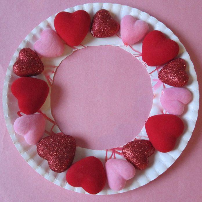 puffy heart valentine wreath