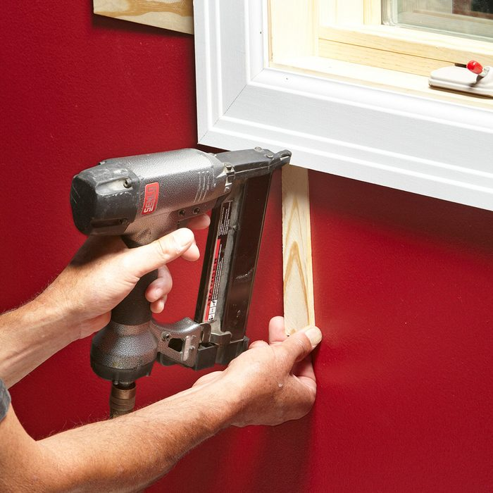 Shimming trim in places where the drywall has recessed | Construction Pro Tips