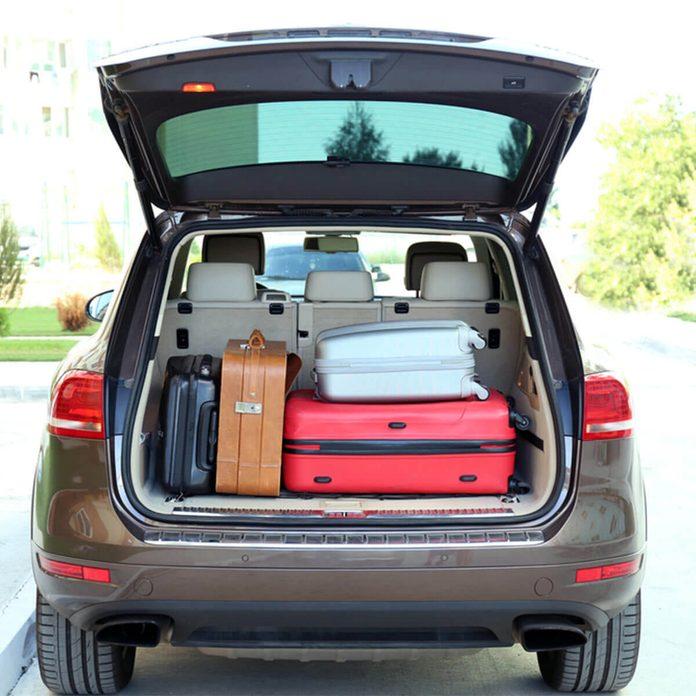 auto parts car trunk with suit cases