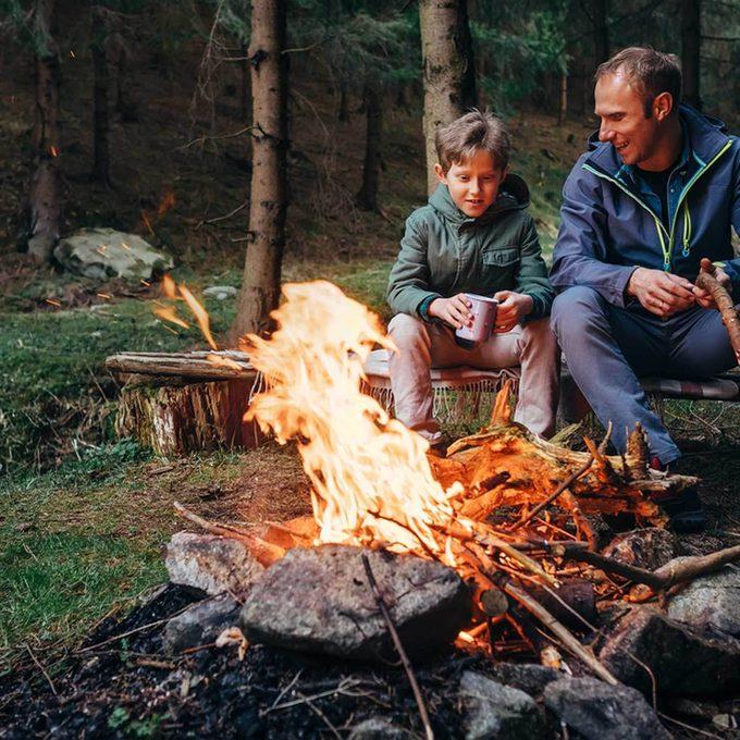 camping hacks campfire